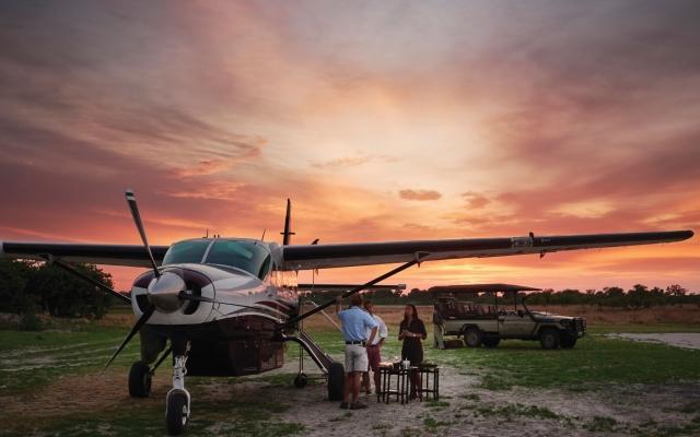 Safari en avions taxis dans le delta de l'Okavango