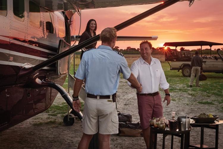 Safari en avion taxi dans le delta de l'Okavango au Botswana avec Belmond