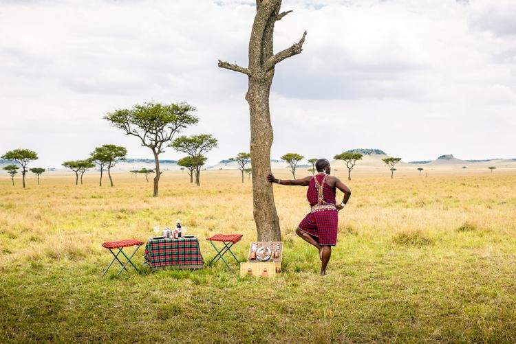 Apéritif dans la savane au Kenya