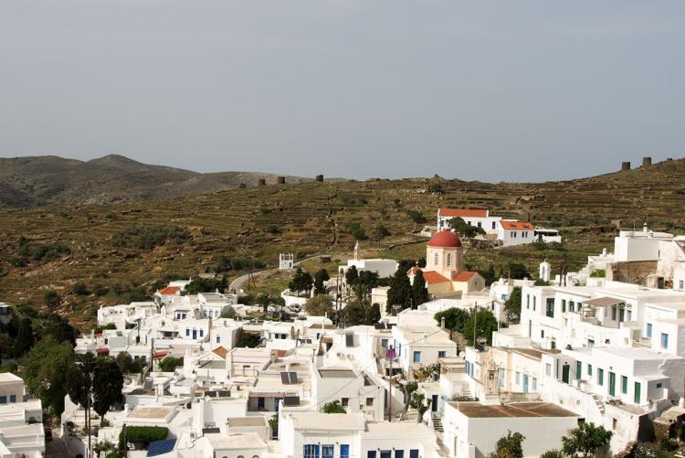 Le village de Pyrgos à Tinos