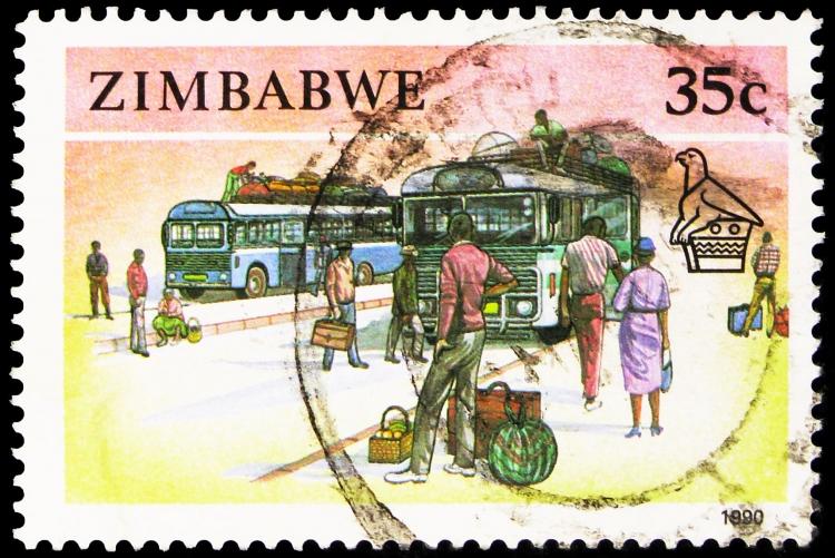 Timbre du Zimbabwe - voyage en Afrique