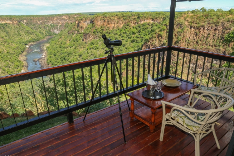 Vue grandiose de votre tente à Little Gorges - Safari Zimbabwe