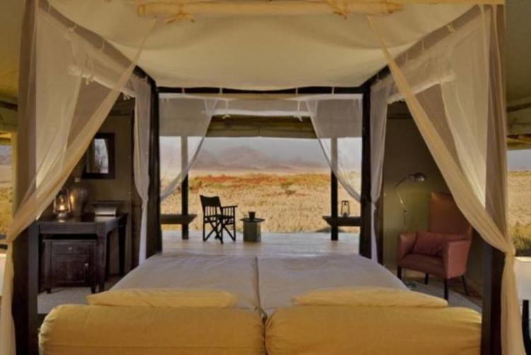 Wolwedans dune camp, dans le désert du Namib