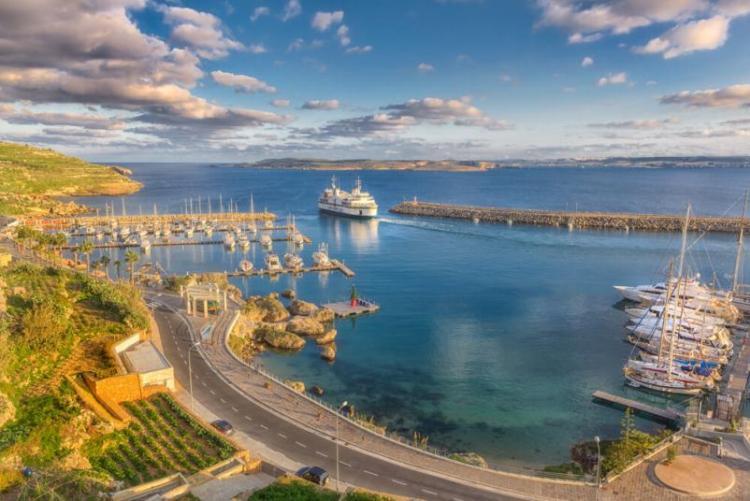 Le port de Mgarr sur l'île de Gozo, dans l'archipel de Malte