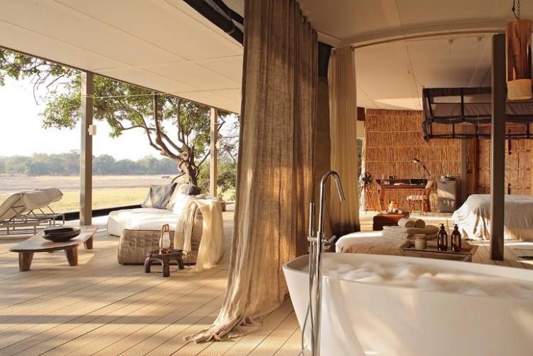 Votre tente à Chinzombo Lodge dans la South Luangwa en voyage en Zambie