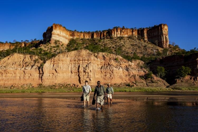 Safari à pied dans le parc de Gonarezhou au Zimbabwe