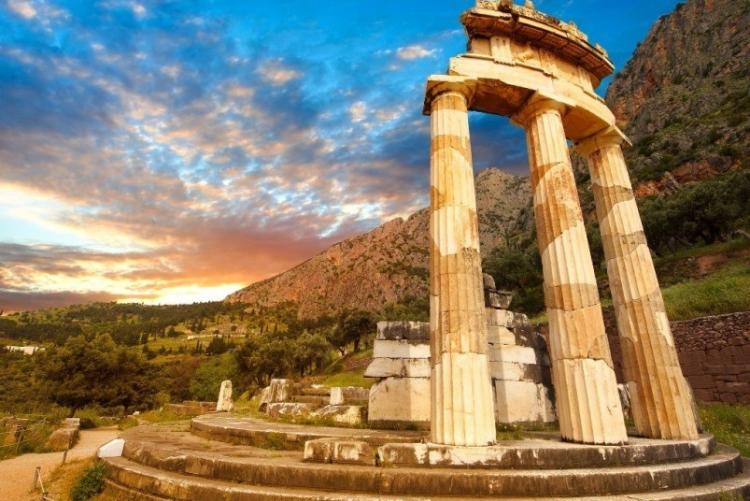 Le site antique de Delphes (crédit photo Hotel Aegli Arachova) en voyage en Grèce en hiver