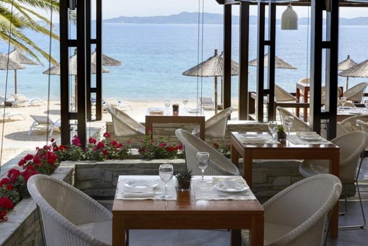 Restaurant de l'Eagles Resort (Voyage en Chalcidique en Grèce)
