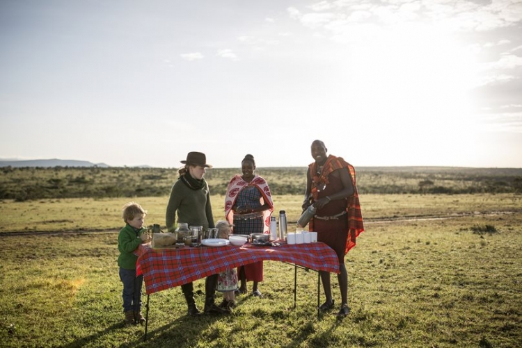 Apéritif à Maasai Mara avec votre guide Maasai