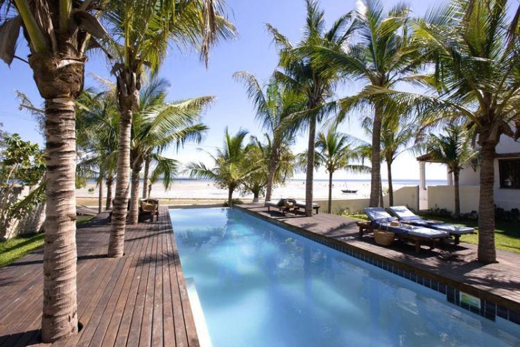 La piscine d'Ibo Island Lodge dans les Quirimbas aux Mozambique