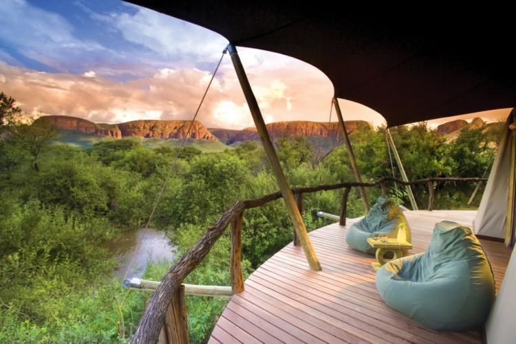 La vue sur la savane de votre terrasse privée à Marataba safari lodge