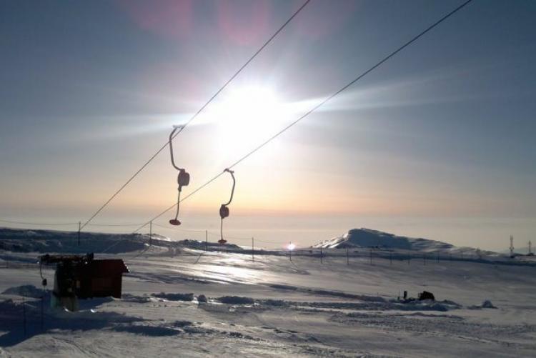 En voyage en sports d'hiver au mont Voras en Macédoine grecque