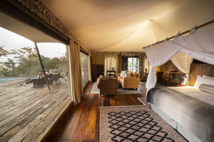 Votre chambre à Mpala Jena et sa vue sur le Zambèze