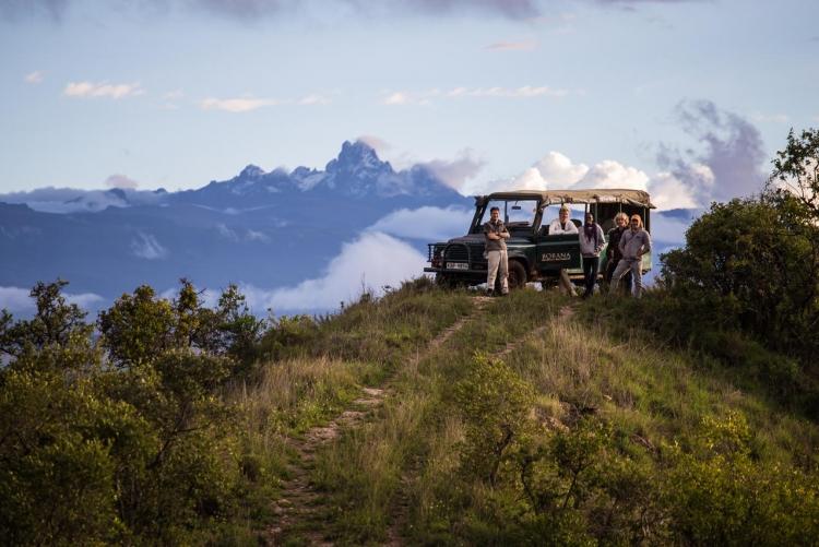 Paysages du Mont Kenya en safari à Borana