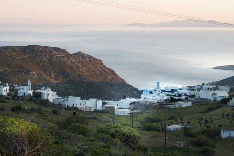 Vue sur les villages de Tinos
