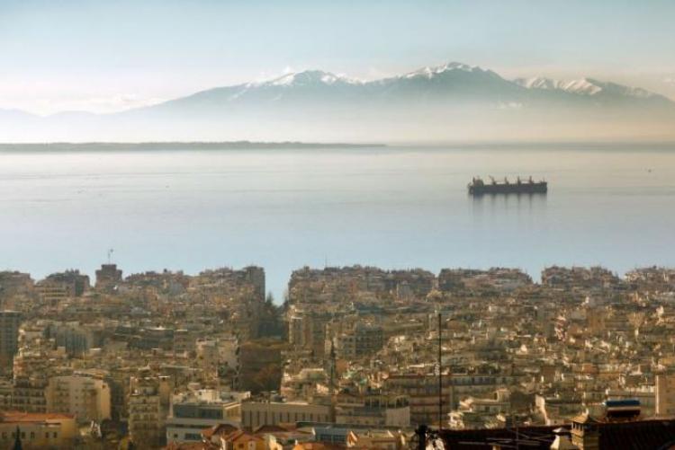 Vue panoramique de Thessalonique depuis Ano Poli lors d'un week-end en Grèce