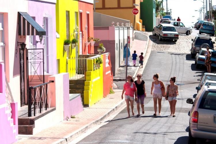 Les rues colorées du quartier de Bokaap à Cape Town, week end Afrique du Sud