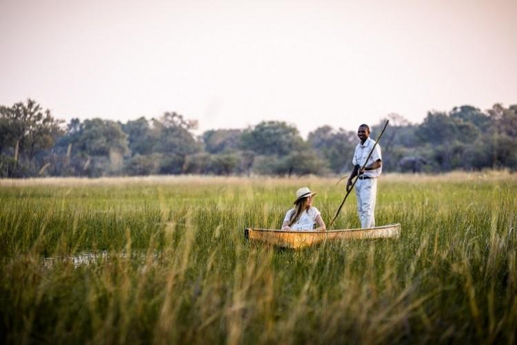 Safari en mokoro dans les méandres du delta de l'Okavango - Safari Botswana