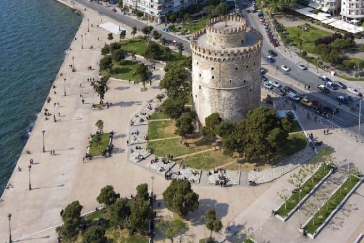 La tour blanche, symbole de Thessalonique, capitale de la macédoine grecque