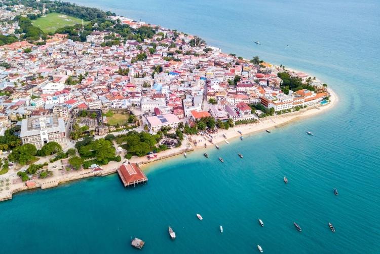 La vieille ville de Zanzibar, Stone Town vue du ciel