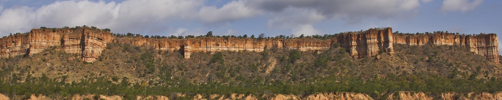 Gonarezhou parc Zimbabwe falaises de Chilogo