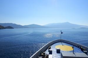 Voyage en ferry dans les îles grecques des Cyclades